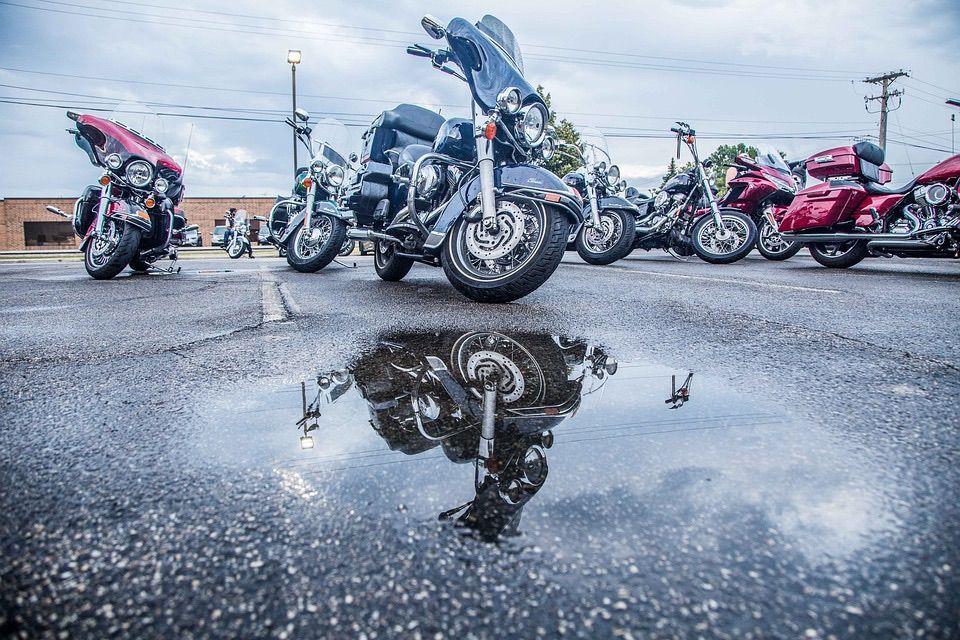 Conducir la moto con lluvia