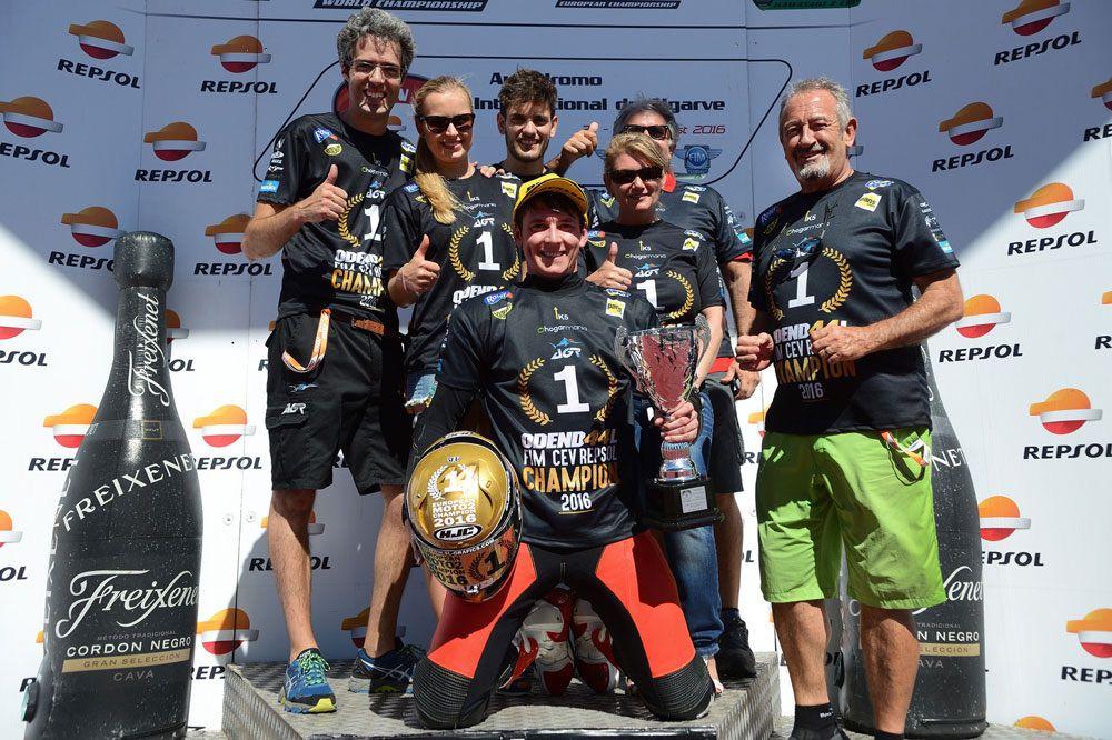 Steven Odendaal Campeón de Europa de Moto2