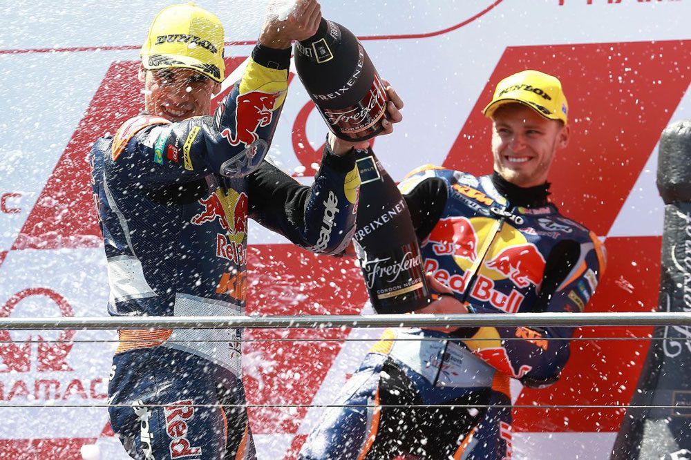 Brad Binder y Miguel Oliveira ya estuvieron juntos en KTM en 2015