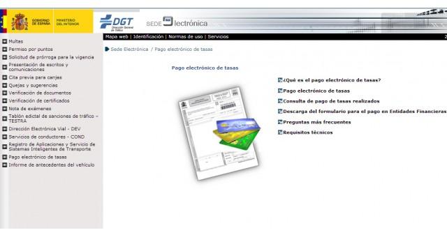 Cómo pagar tasas de la DGT por Internet