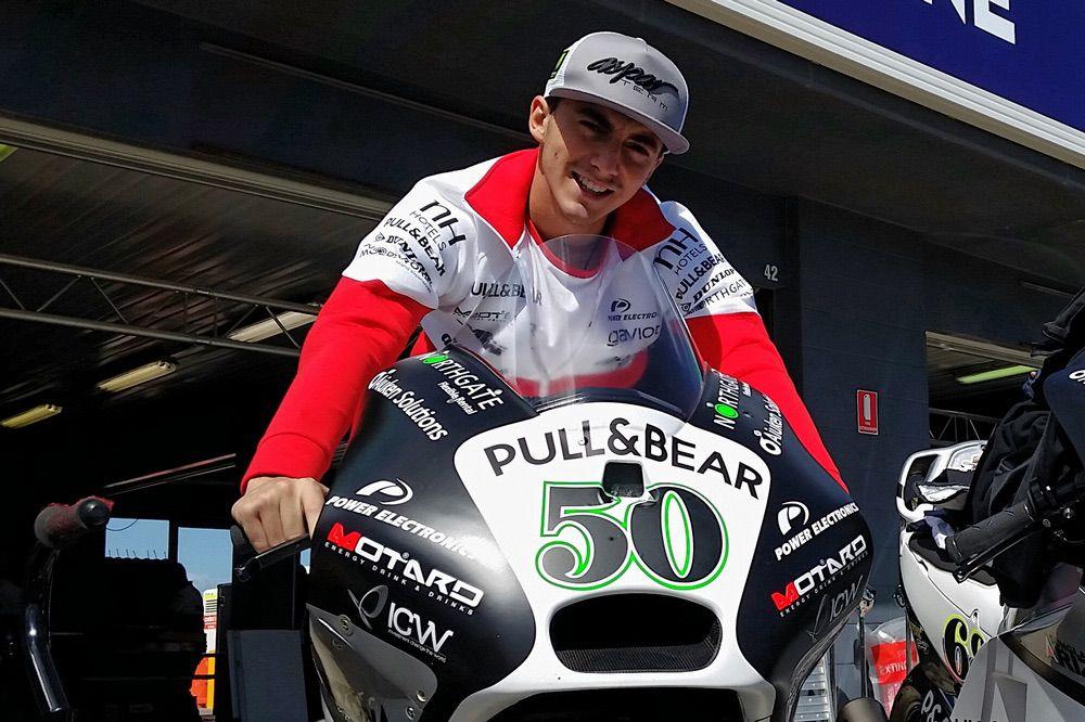 Pecco Bagnaia sobre una MotoGP del Team Aspar