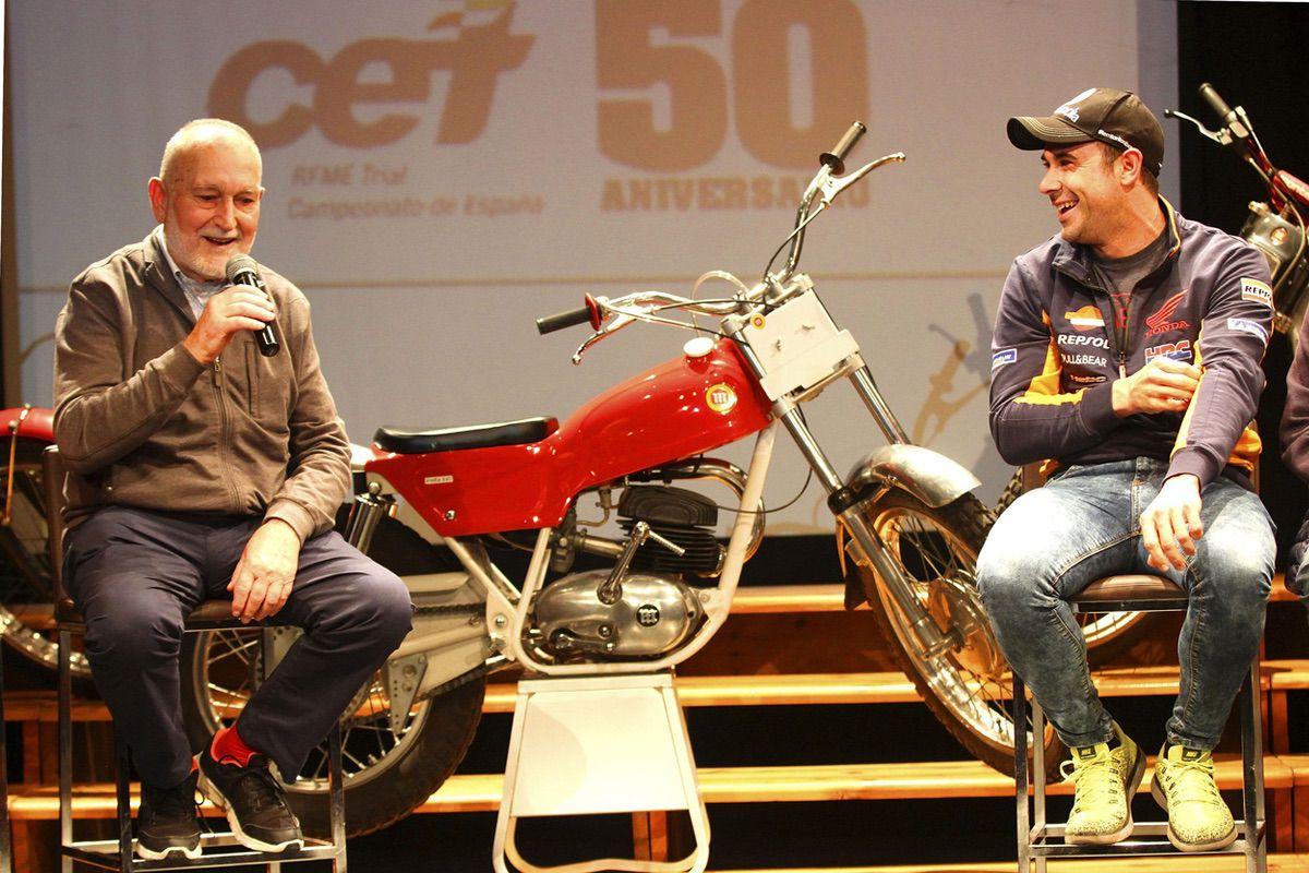 Pedro Pi y Toni Bou, el primero y el úlitmo Campeón de España de Trial
