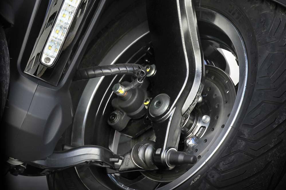 Sensores de presión de los neumáticos en el Peugeot Metropolis