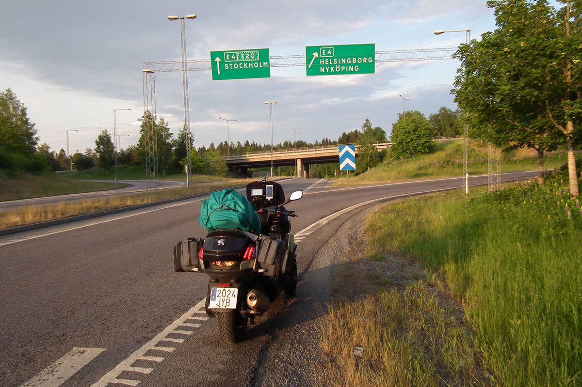 El Peugeot Metropolis de Gabriel Puertas, por Suecia