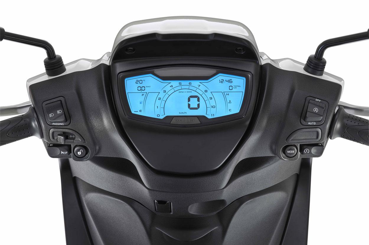 Piaggio Medley S 125 2020, cuadro de instrumentos
