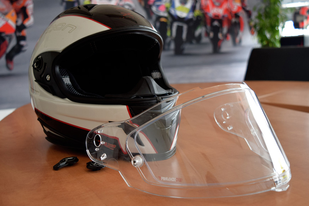 Pinlock casco moto