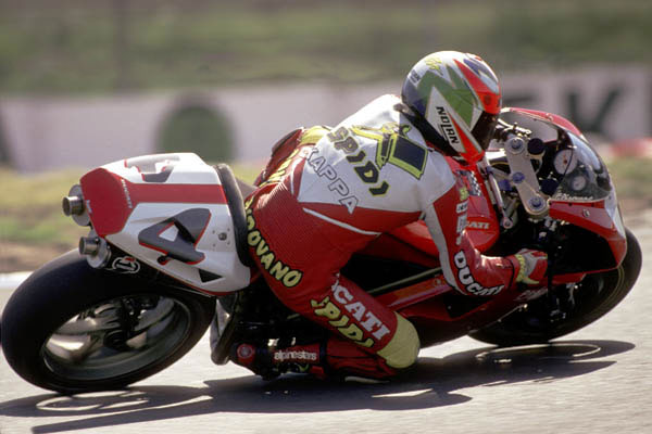 Fabrizio Pirovano con Ducati