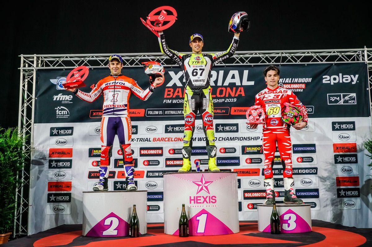 Podio del X Trial Indoor de Barcelona 2019