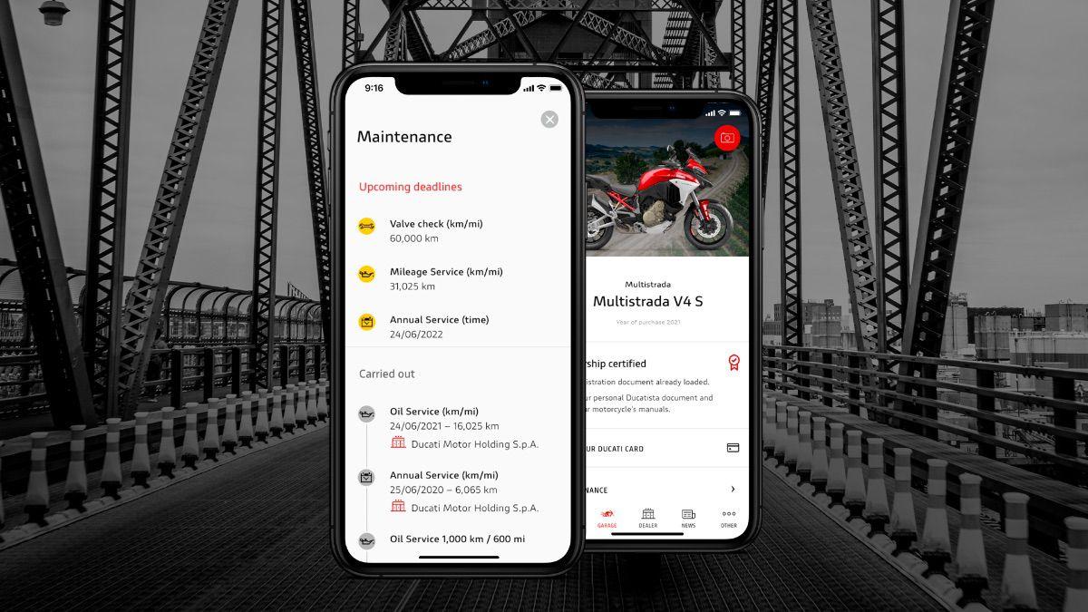"""MyDucati App evoluciona e incorpora una nueva sección de """"Mantenimiento"""""""