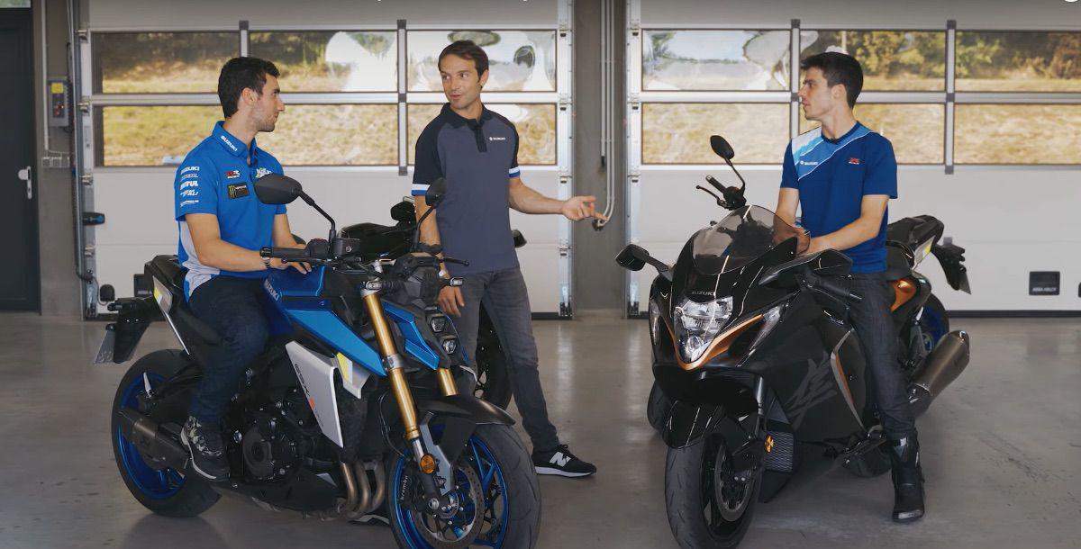 Joan Mir y Alex Rins prueban la nueva Suzuki Hayabusa
