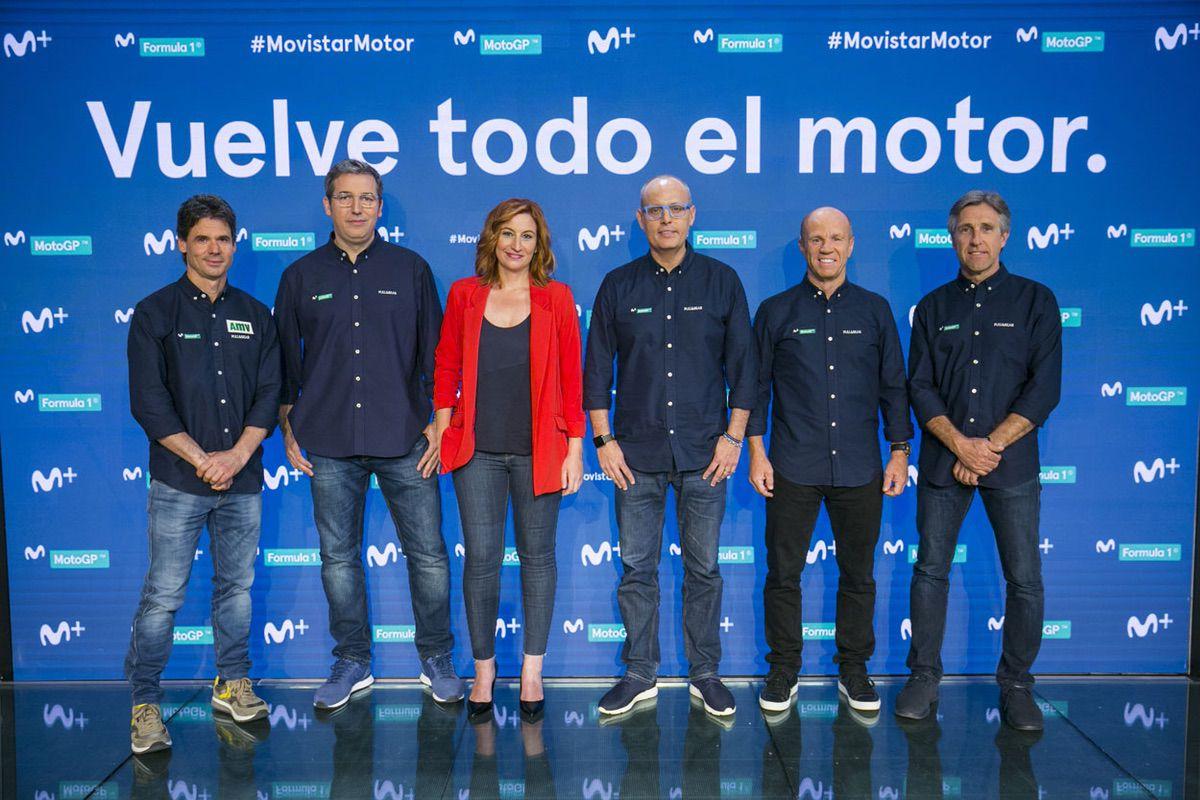 Presentadores Movistar MotoGP