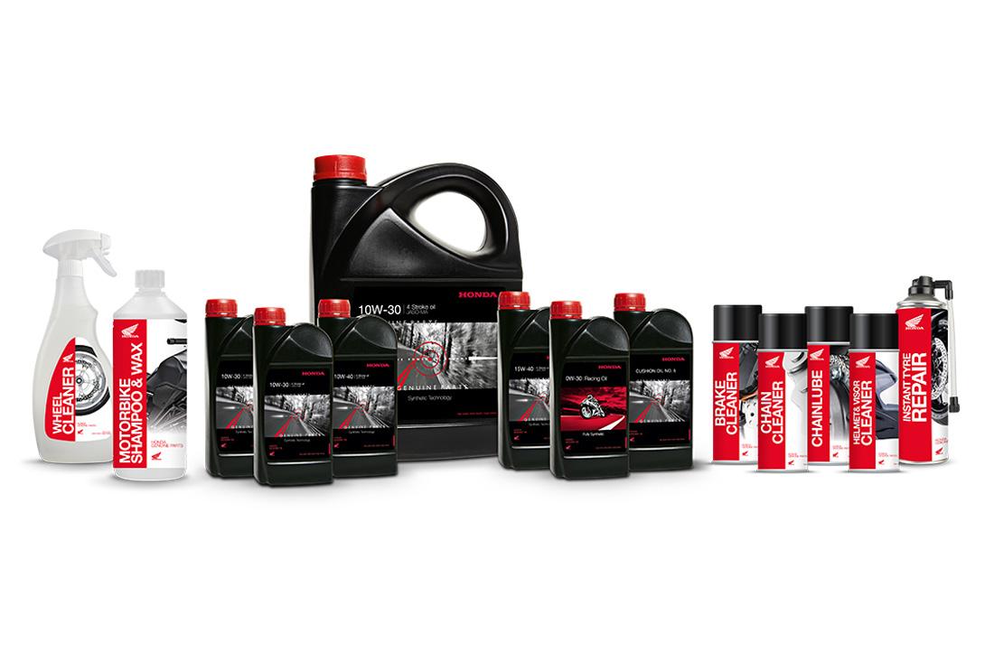 Productos Honda para el cuidado de la moto