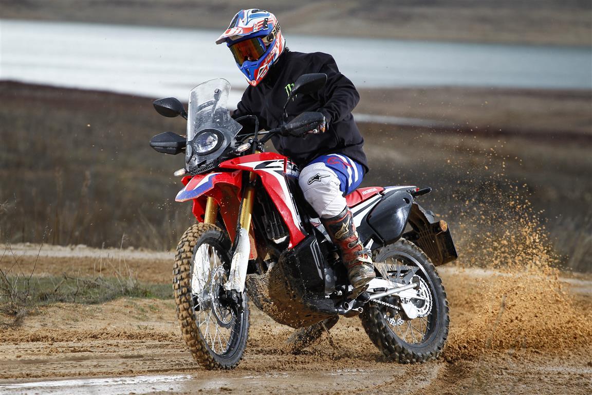 prueba honda crf240 rally