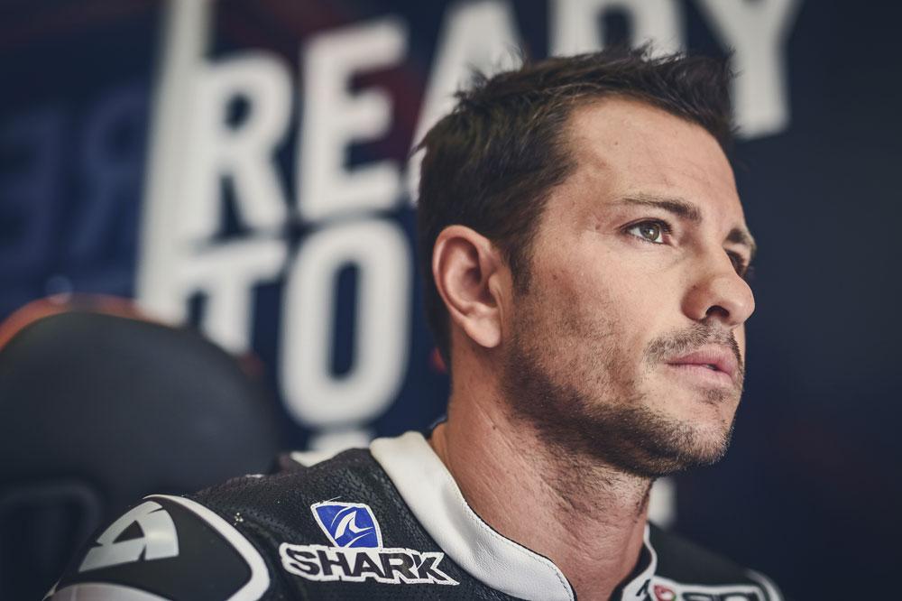 Randy de Puniet durante los entrenamientos KTM MotoGP