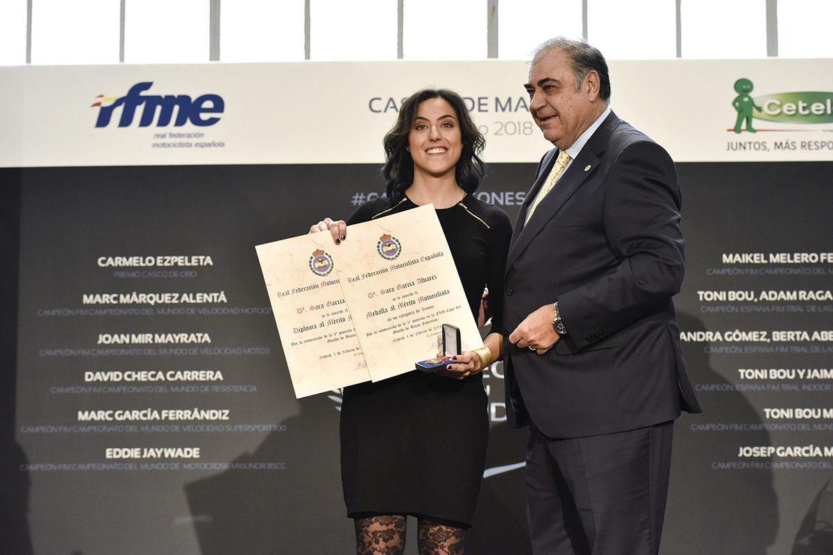Sara García en la gala RFME