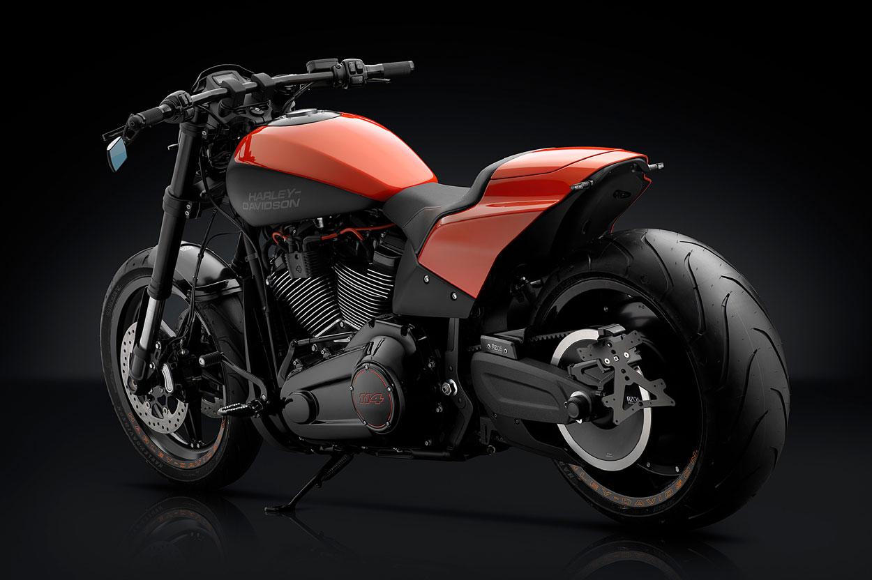 Harley Davidson FXDR 114 con accesorios Rizoma