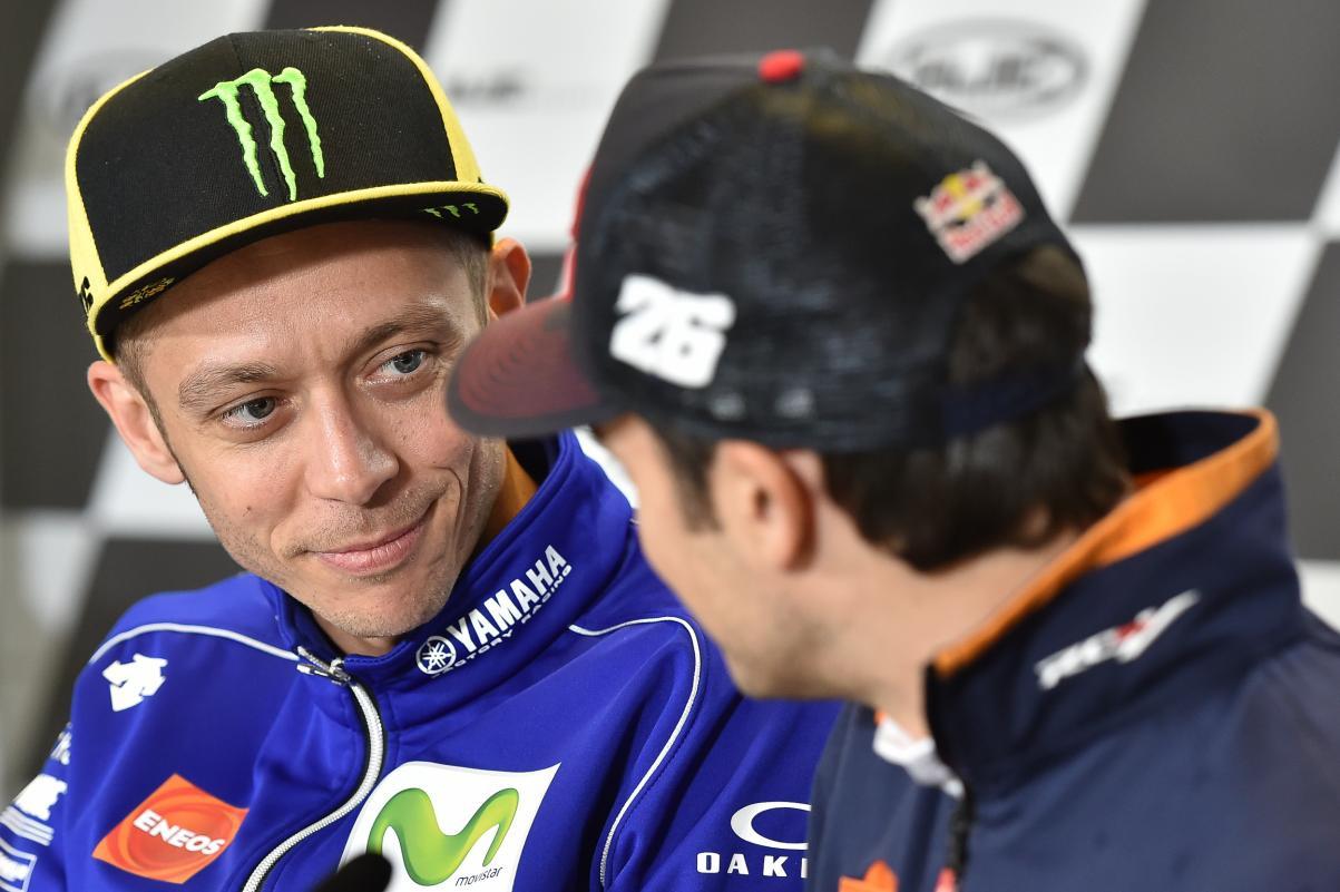 Rossi y Pedrosa