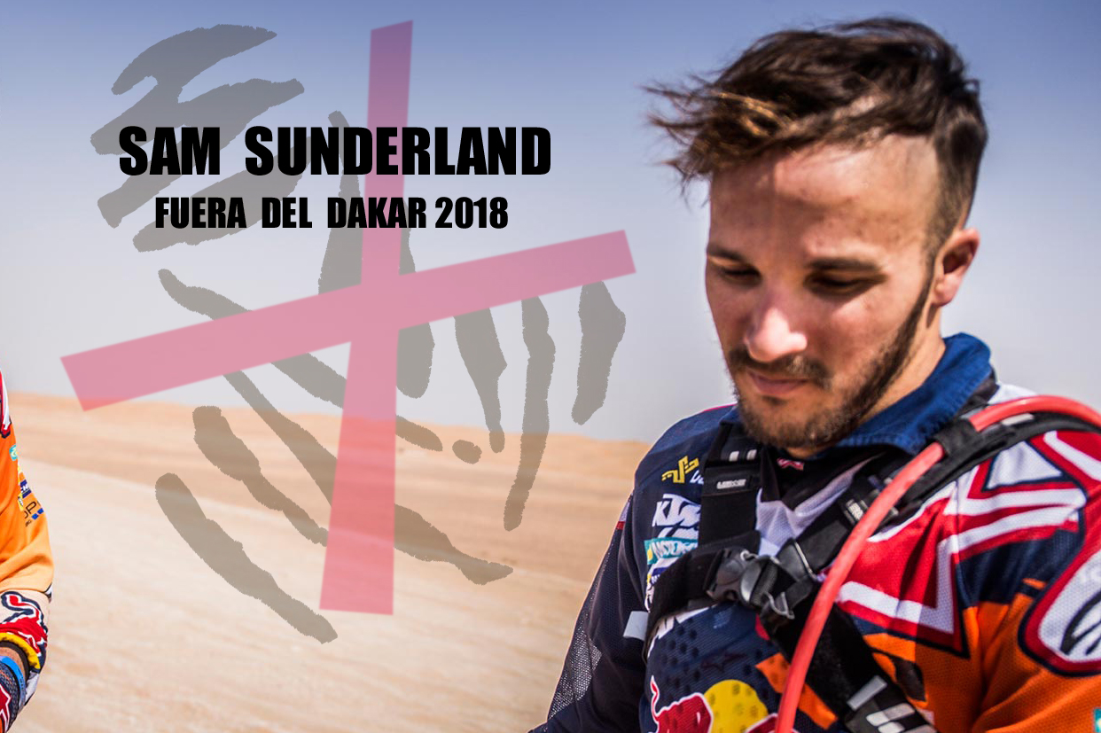 Sam Sunderland accidente abandona caida dakar 2018