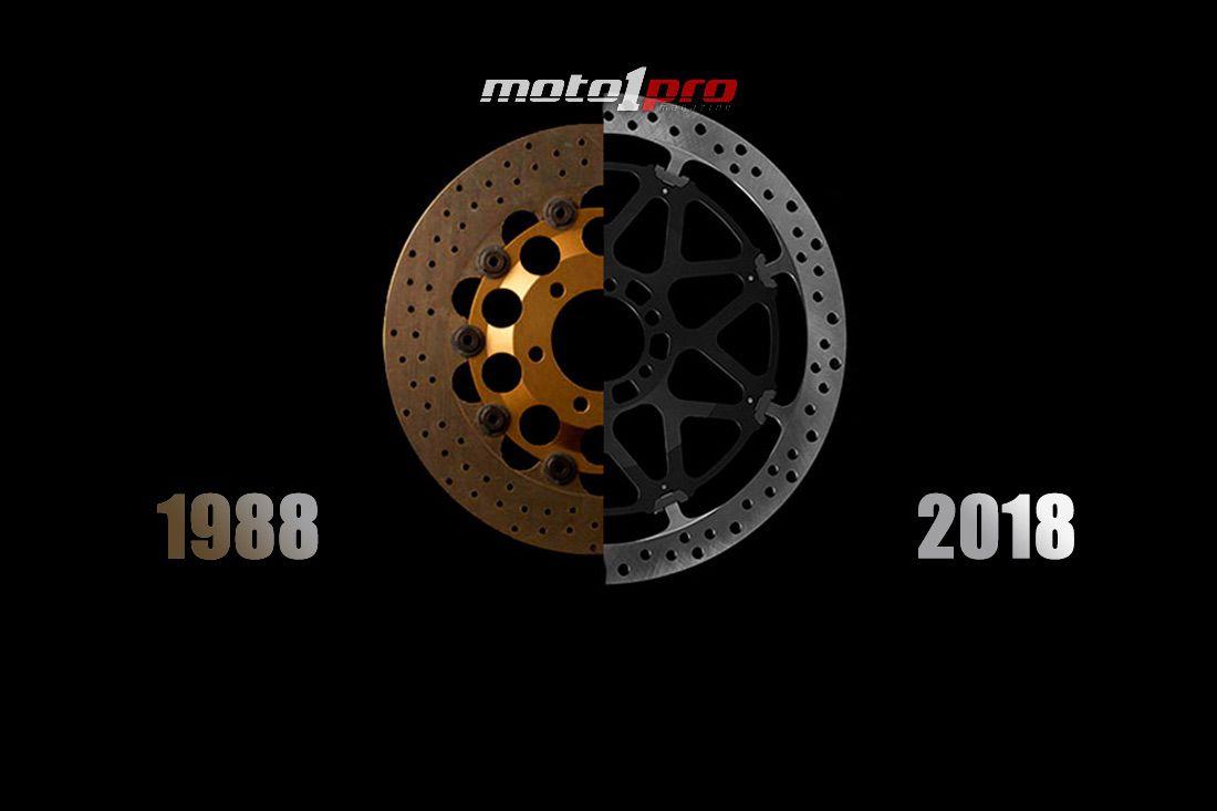 SBK frenos hace 30 años evolucion discos