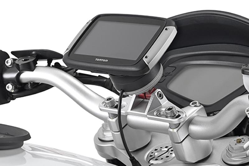 Navegador y soporte para moto