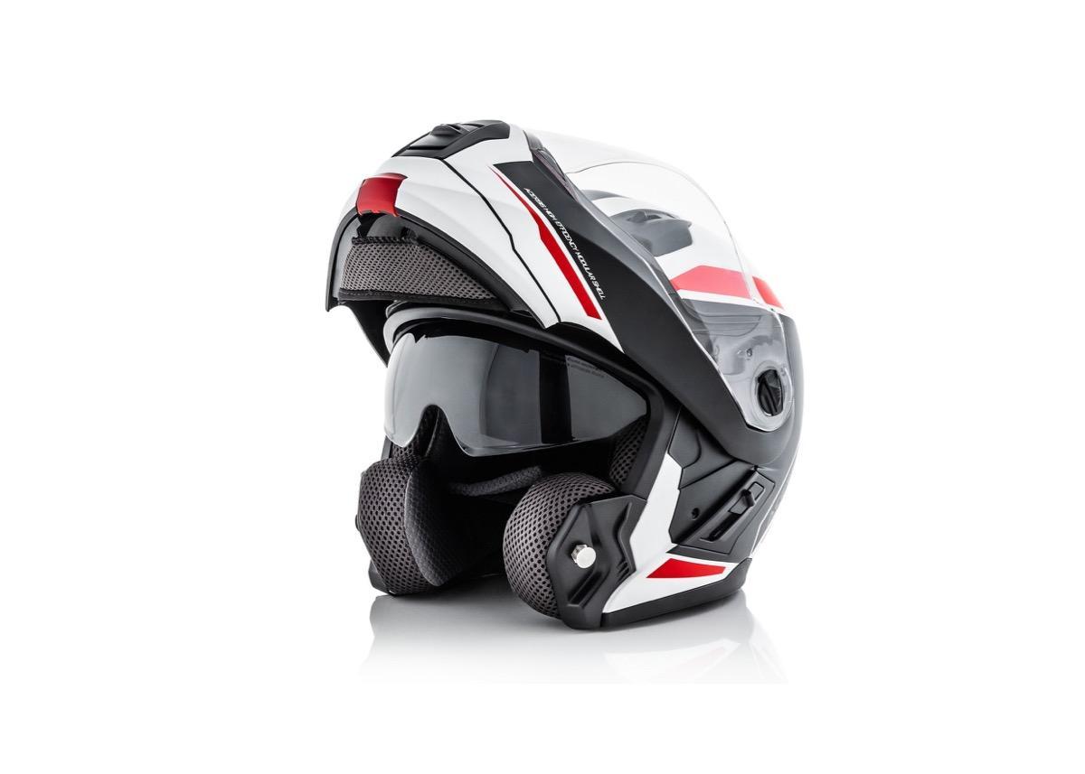 casco modular acerbis rojo