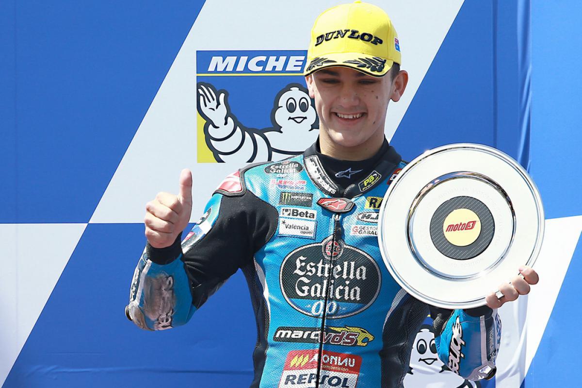 Primer podio en el Mundial de Moto3 para Aaron Canet
