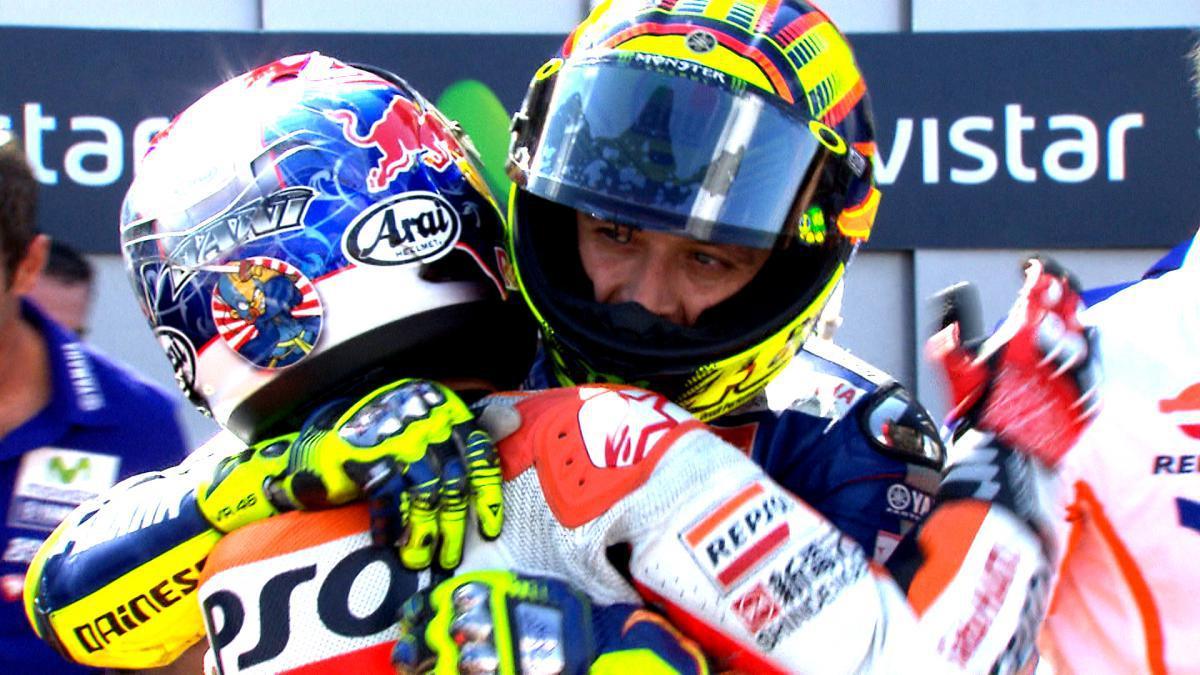 Dani Pedrosa y Valentino Rossi