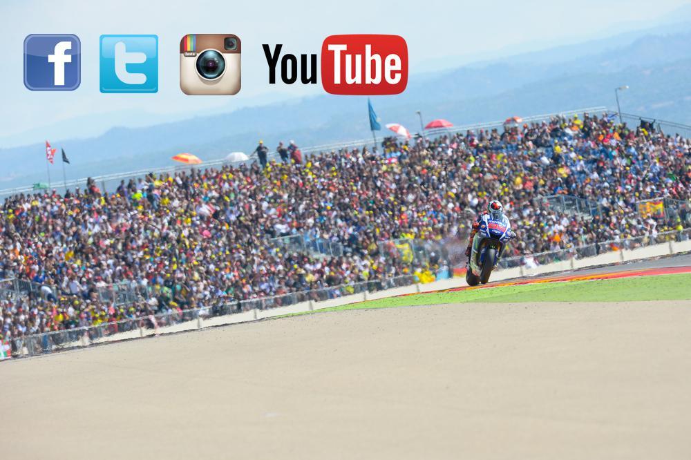 el Gran Premio Movistar de Aragón en las redes sociales