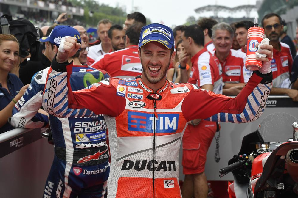 Victoria de Andrea Dovizioso en MotoGP en Malasia