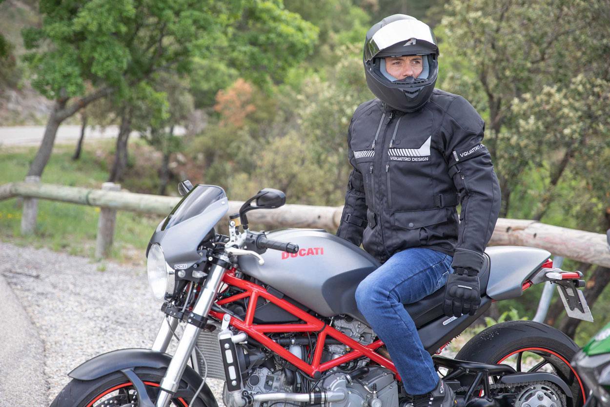 Chaqueta de moto V Quattro Hurricane