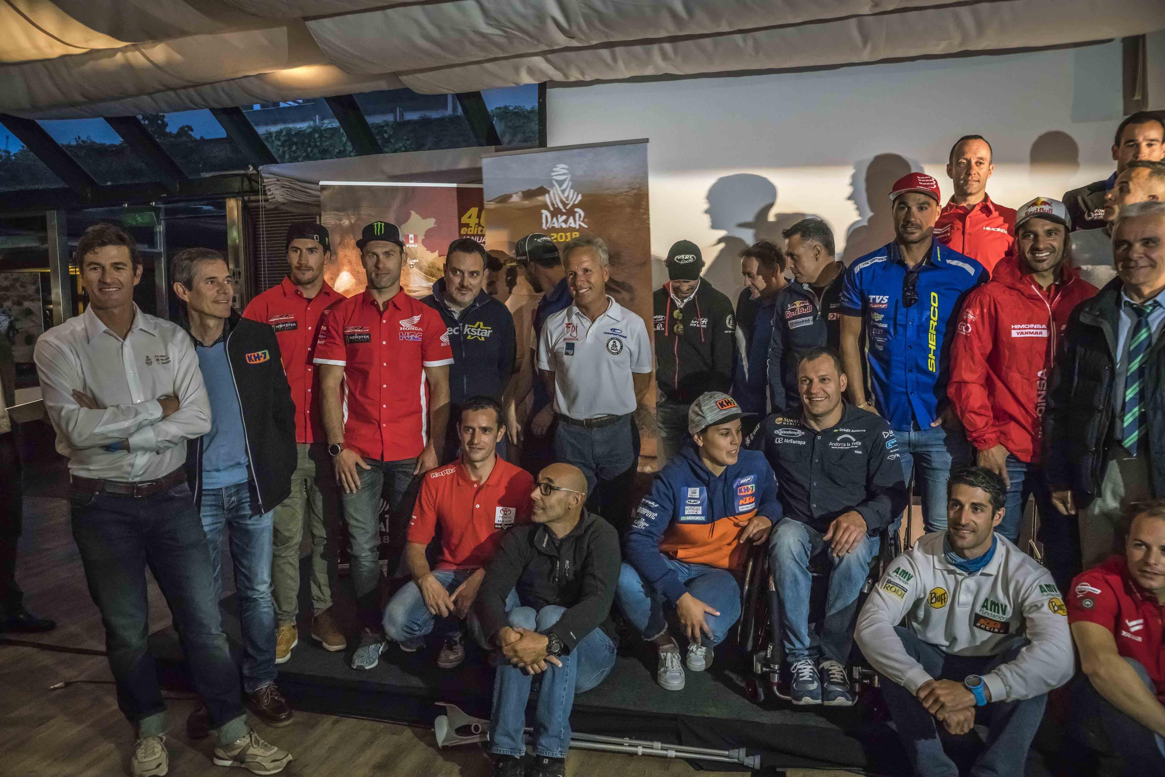 Presentación Rally Dakar 2018 Barcelona