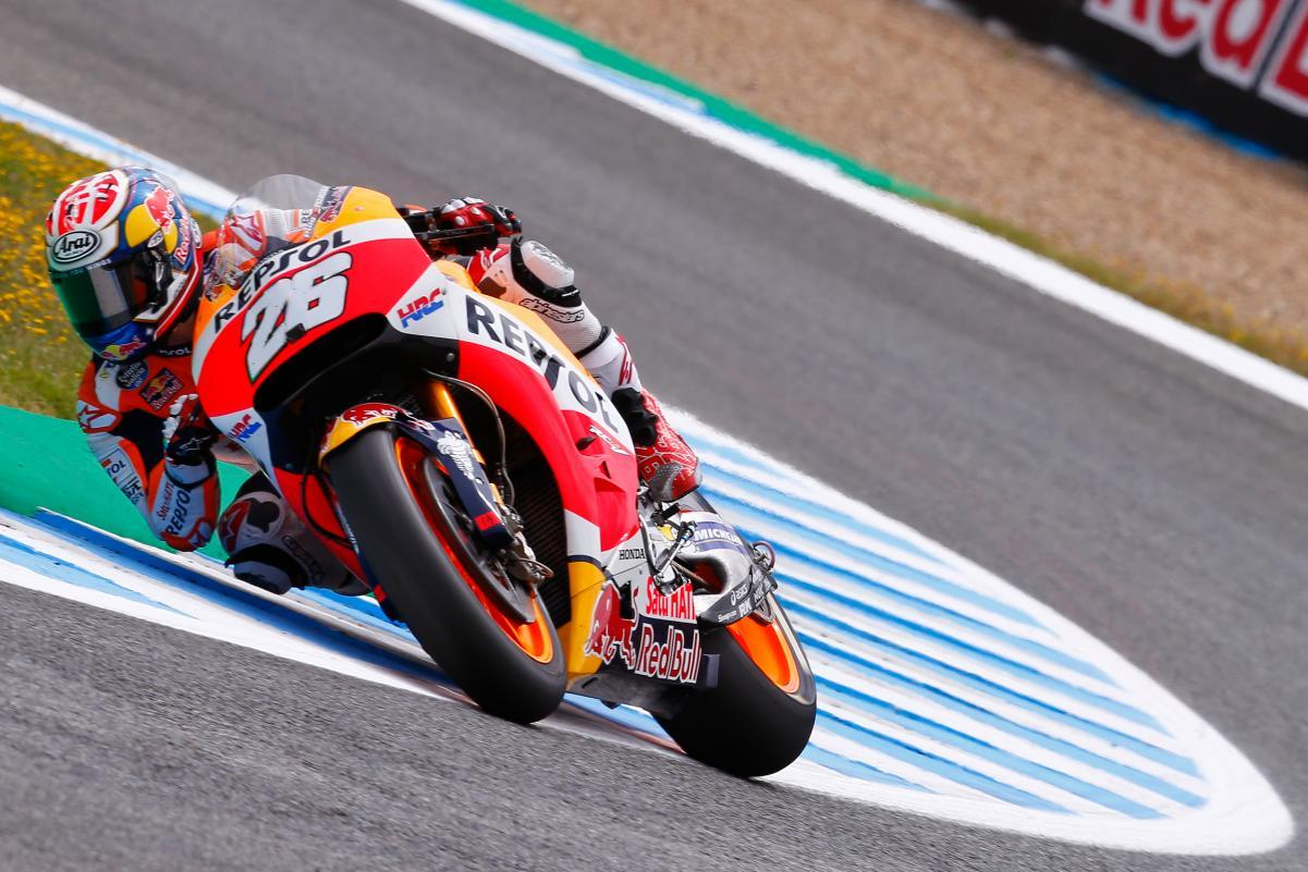 Dani Pedrosa el más rápido del viernes en Jerez