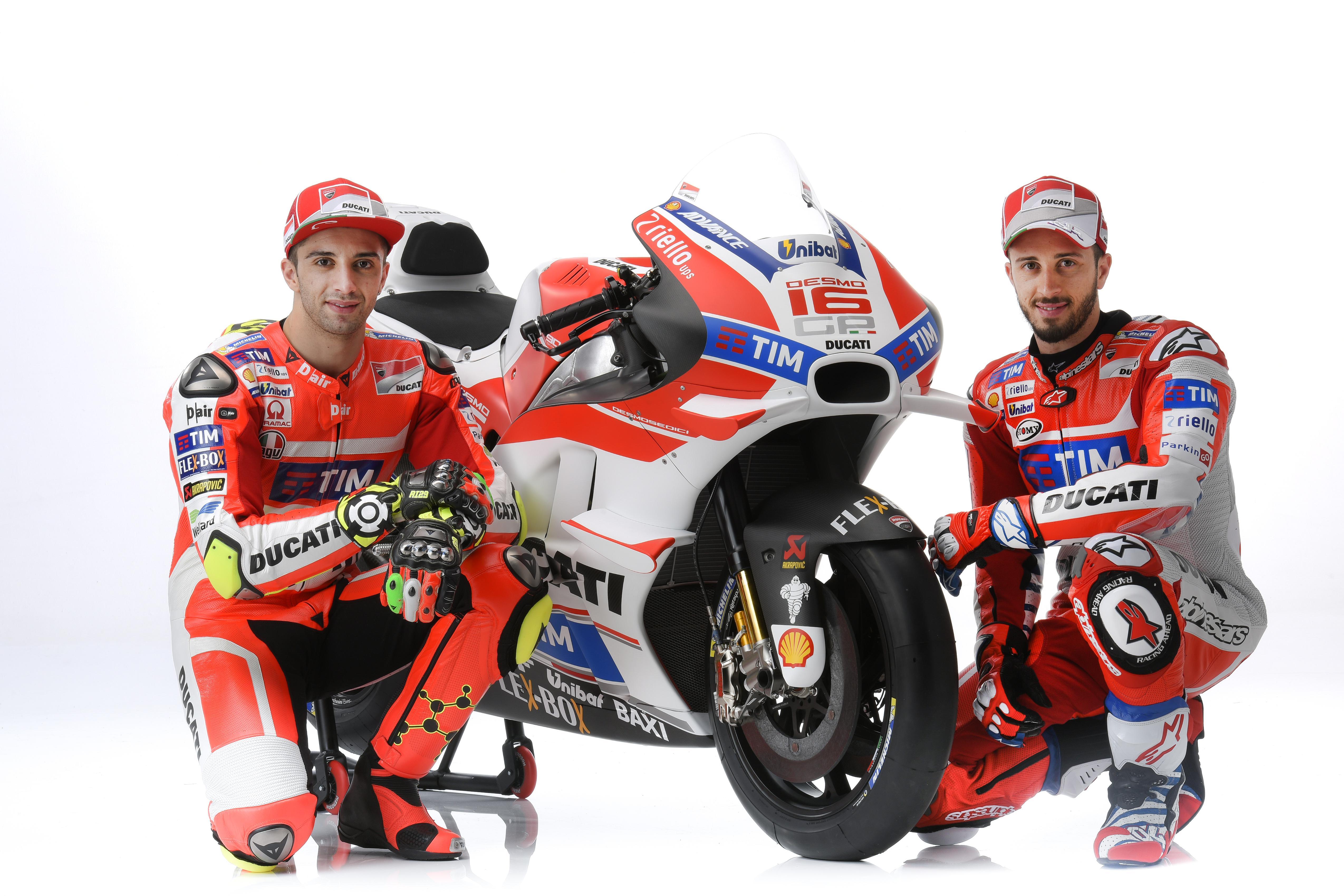 Ducati MotoGP 2016: Andrea Dovizioso y Andrea Iannone