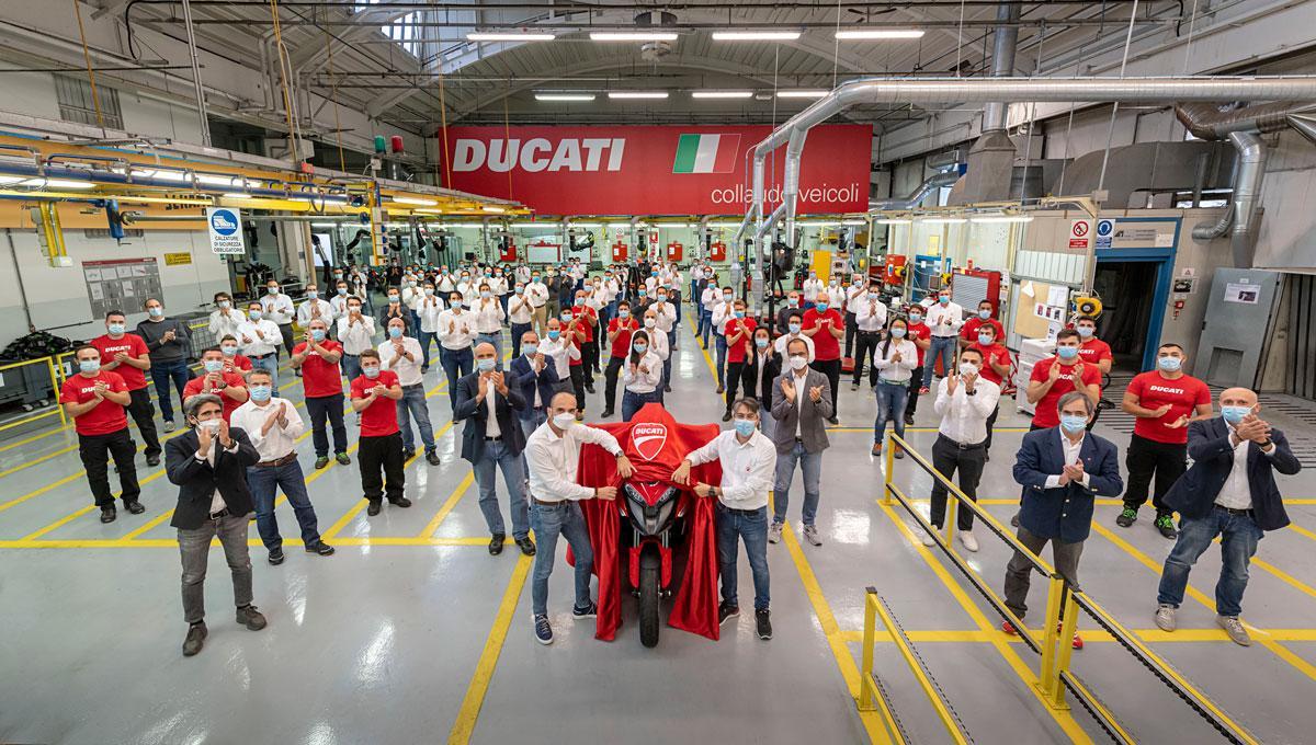 Equipo de desarrollo de la Ducati Multistrada V4