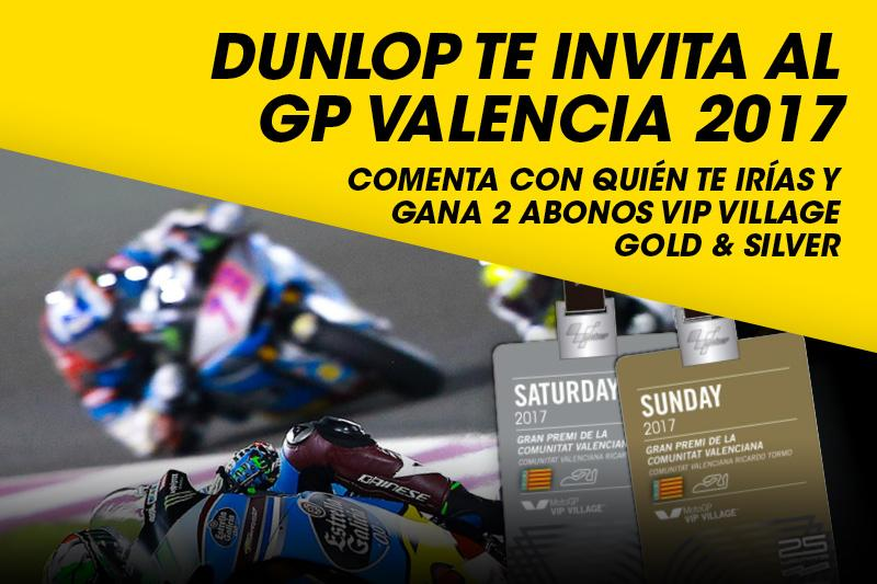 Dunlop Cheste GP Valencia passes paddock pase VIP