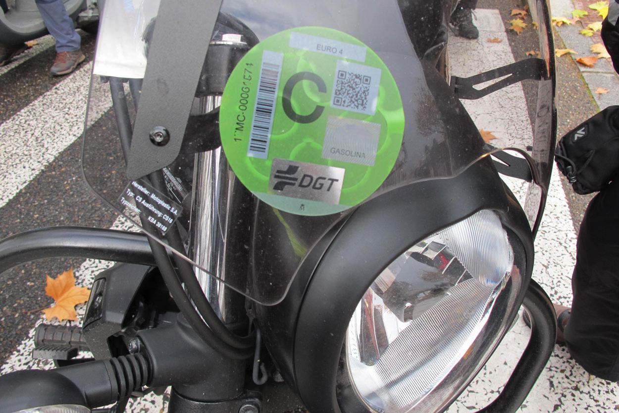Etiqueta ecológica para moto