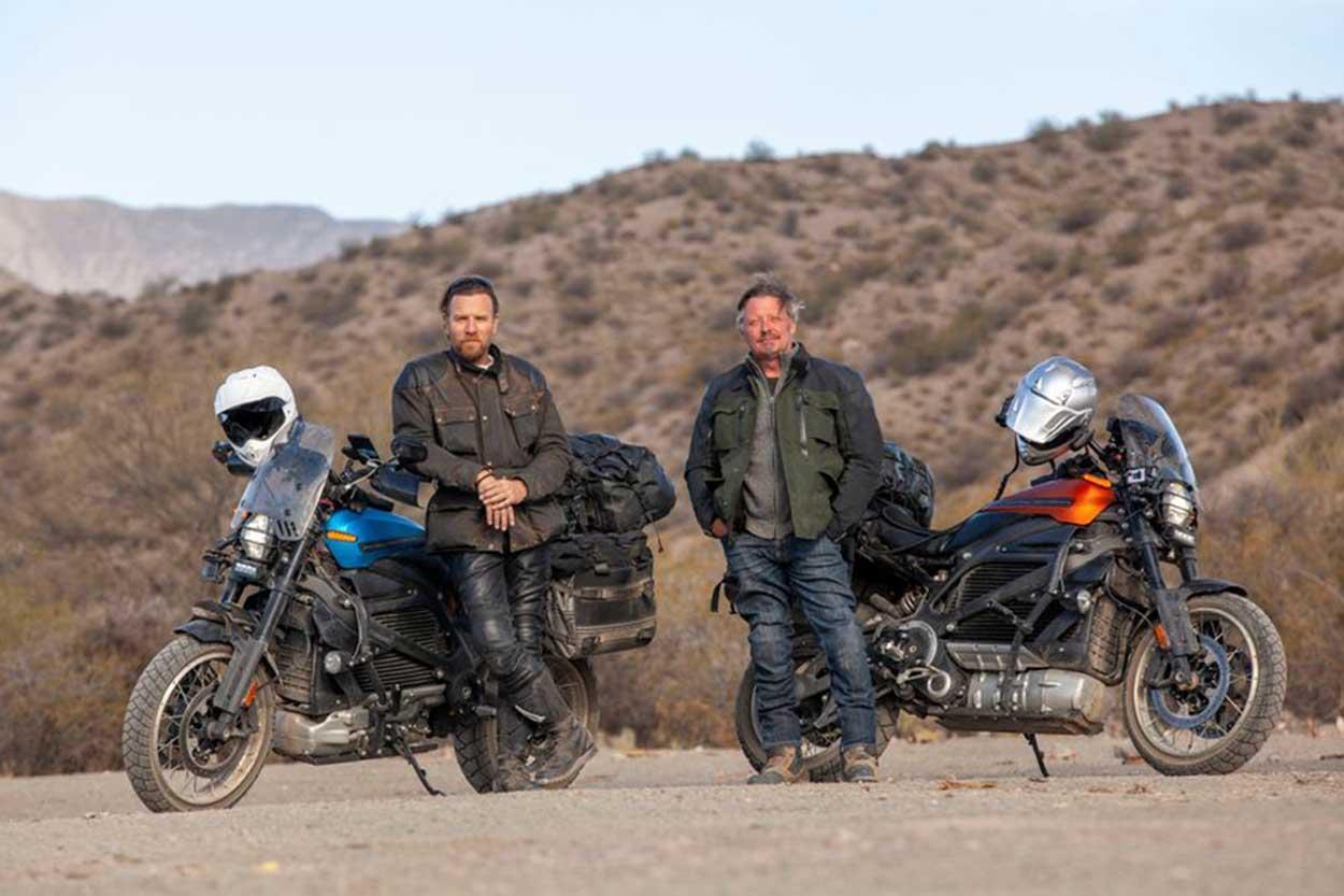 Ewan McGregor y Charley Boorman con las Harley Davidson Livewire