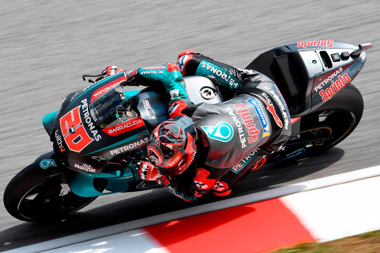Fabio Quartararo durante los entrenamientos del Gran Premio de Malasia