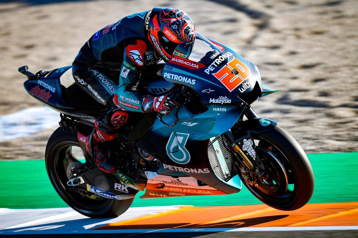 Fabio Quartararo ha logrado el mejor tiempo de los entrenamientos del GP de Valencia