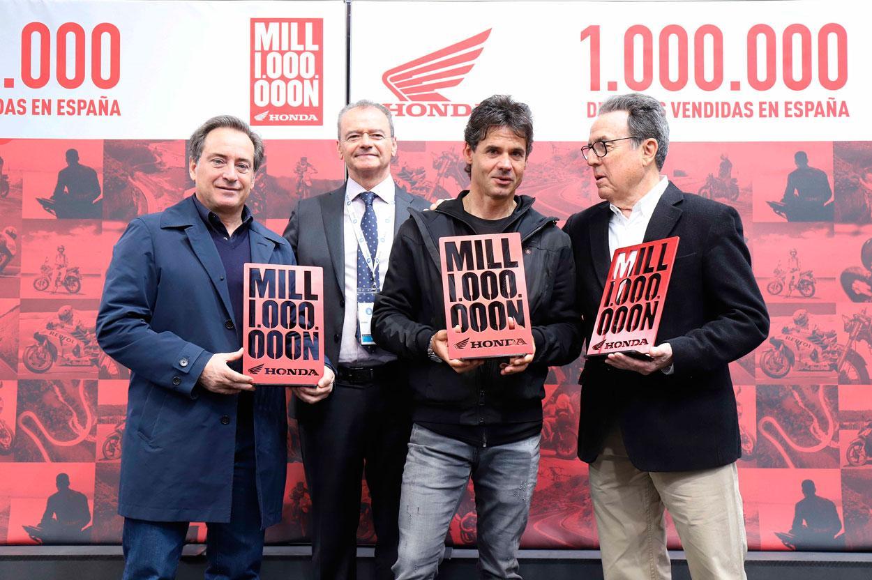 Honda llega a un millón de motos vendidas en España