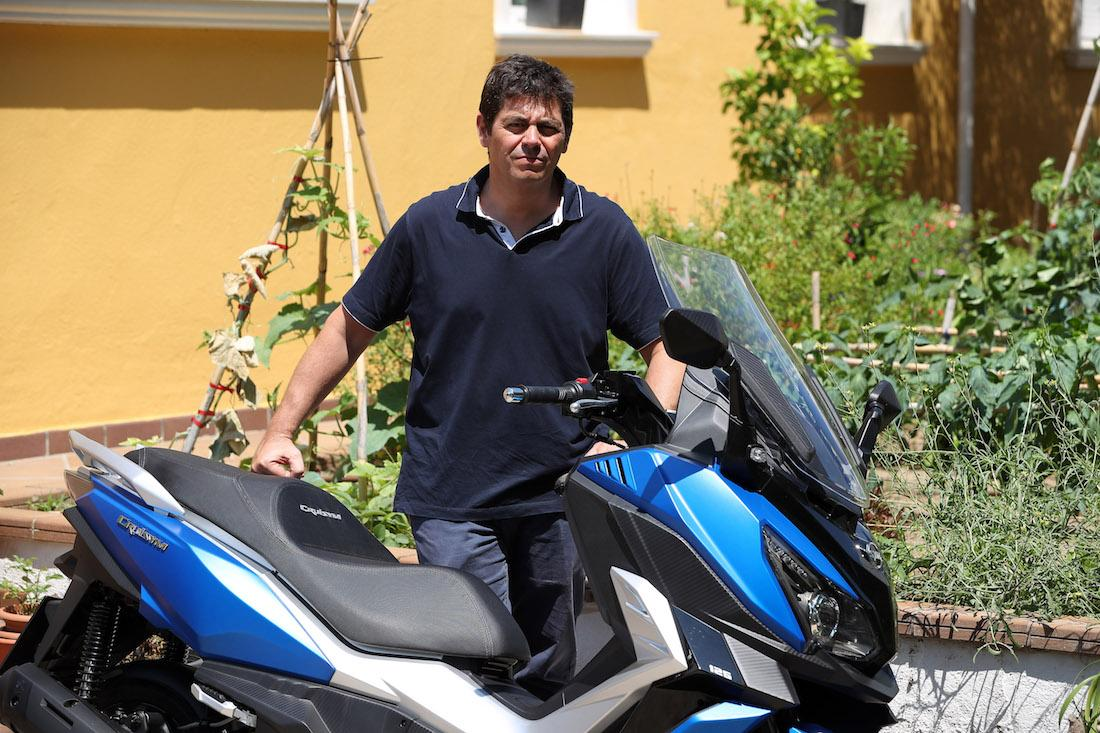 Jordi Bordoy durante la presentación del SYM Cruisym 125