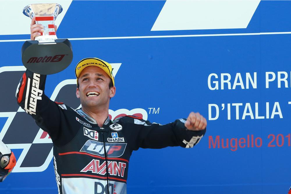 Johan Zarzo tras la victora en el GP de Italia
