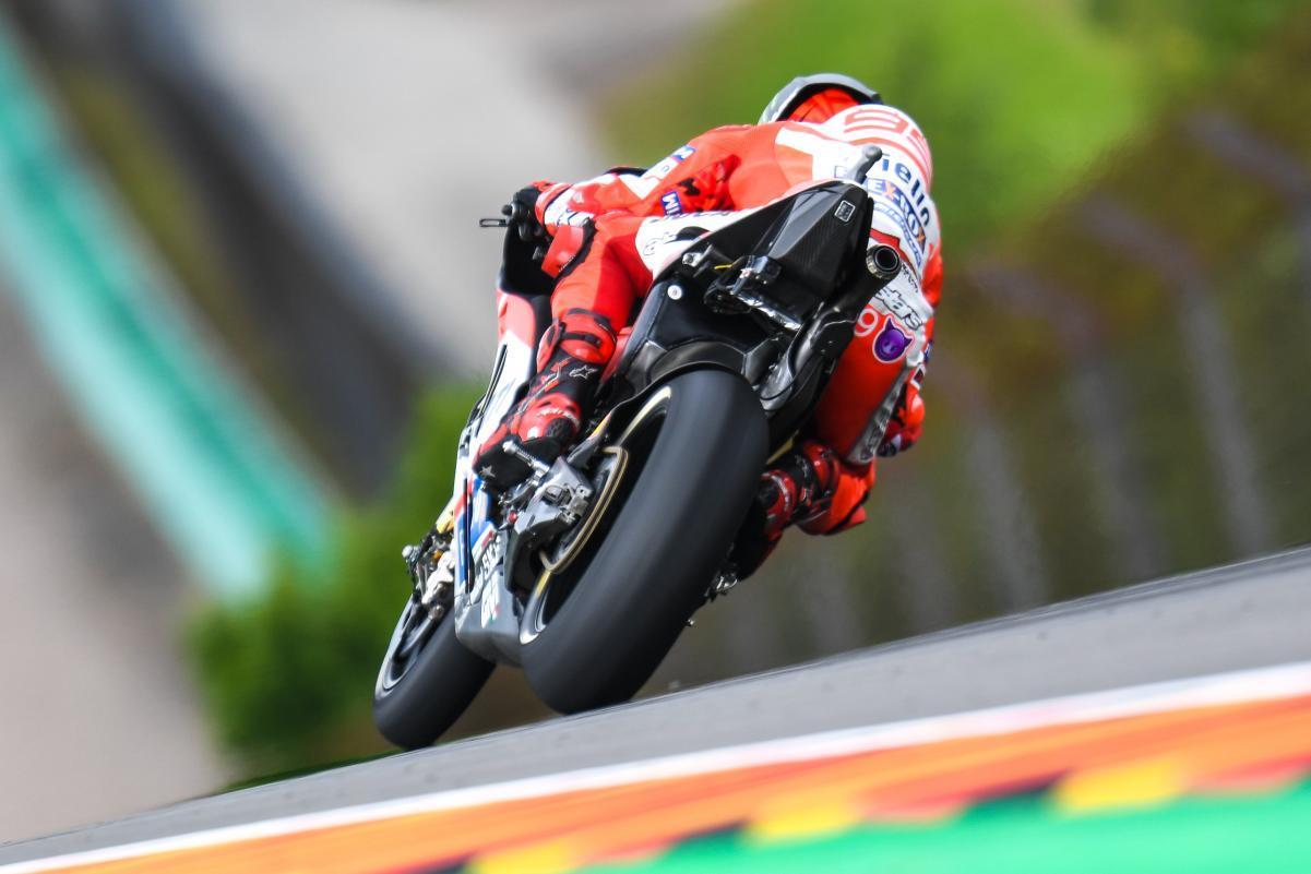 Lorenzo en Sachsenring