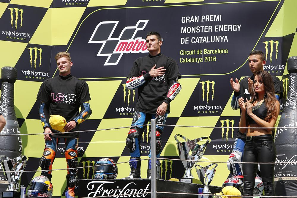 Victoria de Jorge Navarro sobre Brad Binder en el Gran Premio de Cataluña