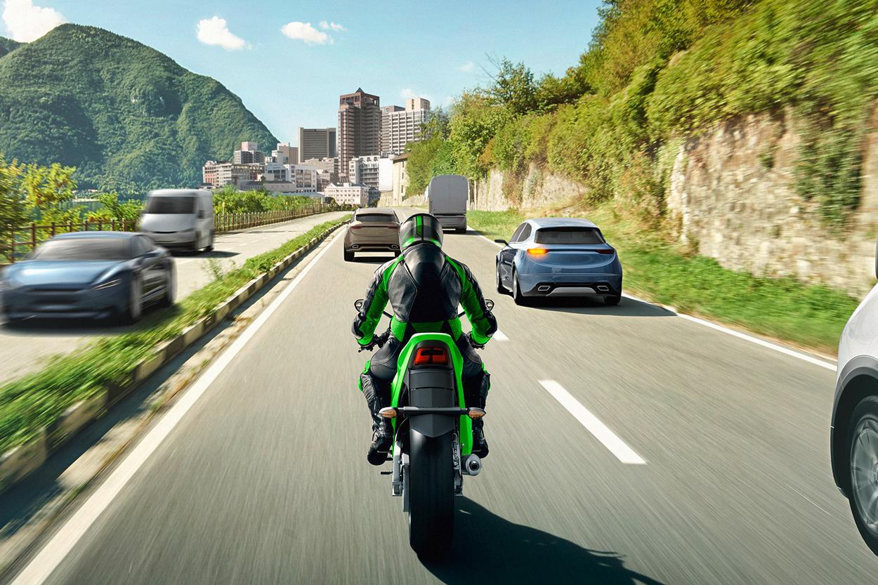 Asistente de seguridad para moto de Kawasaki