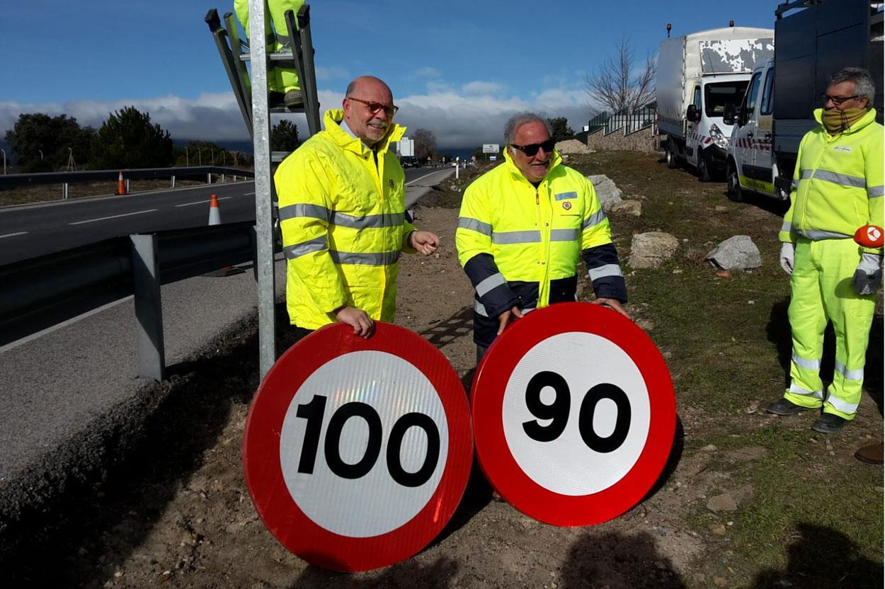 El limite de velocidad en las carreteras convencionales será de 90 km/h
