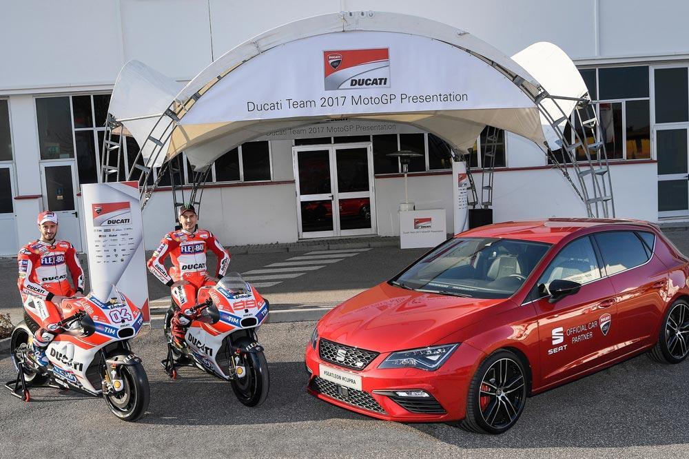 Seat León Cupra,patrocinador del equipo Ducati MotoGP