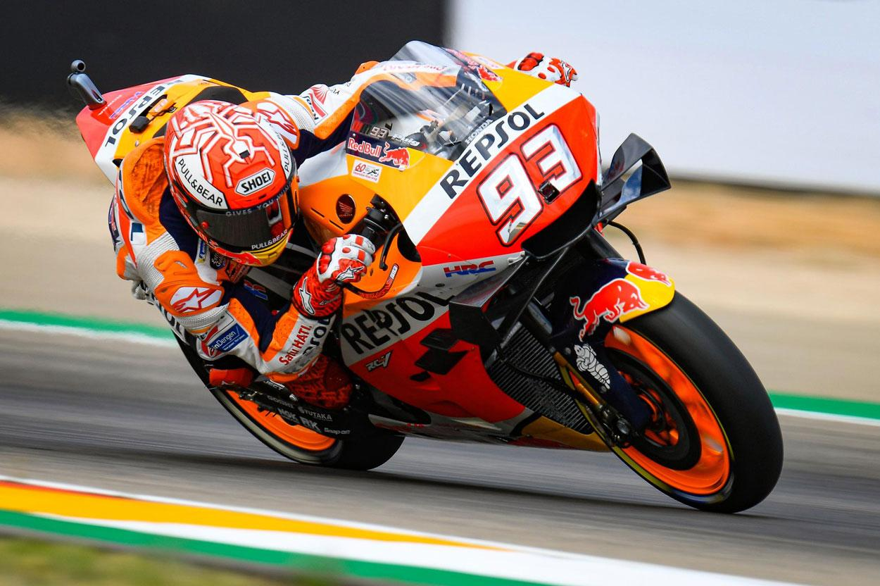 Marc Marquez ha dominado en la primera sesión de entrenamientos del GP de Aragón