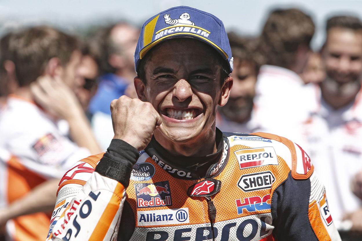 Marc Márquez tras la carrera de MotoGP del Gran Premio de Holanda