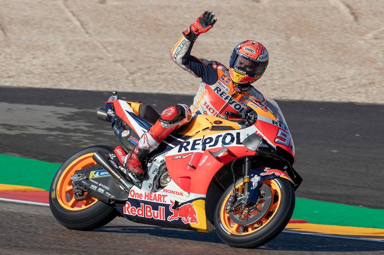Marc Marquez logró la pole del Gran Premio de Aragón 2019